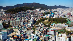 Cityscape in South Korea. High density housing and commerical in Sontang, South Korea Royalty Free Stock Photos