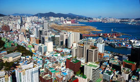 Cityscape in South Korea. High density housing and commerical in Sontang, South Korea Royalty Free Stock Image