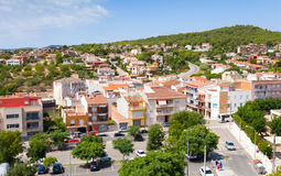 Cityscape of Spanish resort town Calafell Stock Images