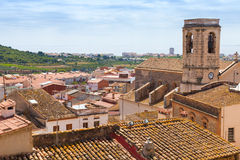 Cityscape of Spanish resort town Calafell Royalty Free Stock Photo