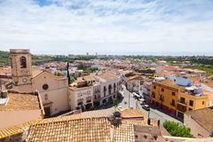 Cityscape of Spanish town Calafell in summer Royalty Free Stock Image