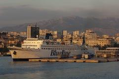 Cityscape of Split at Dusk Royalty Free Stock Image