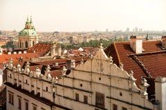 Cityscape and St. Nicholas Church. Prague, Czech Republic Stock Photo