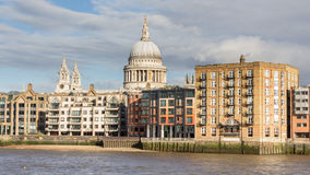 Cityscape with St Paul's Cathedral in London United Kingdom Royalty Free Stock Images