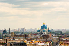 Cityscape of St. Petersburg with the Trinity Cathedral Stock Image