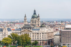 Cityscape of St Stephen's Basilica. Royalty Free Stock Photo