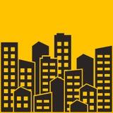 Cityscape Stads moderne gebouwen, het huisvesten district, stadshuizen Vector illustratie stock illustratie
