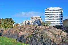 cityscape steniga helsinki Arkivfoton