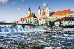 Cityscape of Steyr Stock Images