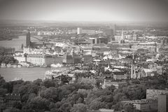Cityscape of Stockholm Stock Photography