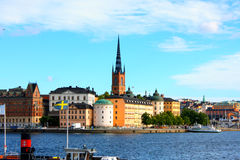Cityscape of Stockholm froem city hall in summer Stock Image