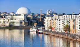 Cityscape with Stockholm Globe Arena Stock Photos