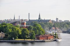 Cityscape of Stockholm. Panorama view of historical part of Stockholm in Sweden royalty free stock photo