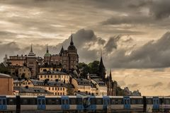 View of Stockholm at sunset stock photography