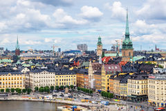 Cityscape of Stockholm, Sweden Stock Image
