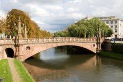 Cityscape in Straatsburg, Frankrijk Royalty-vrije Stock Afbeelding
