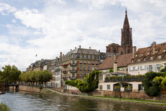 Cityscape in Strasbourg. Alsace, France Royalty Free Stock Photography