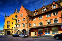 Cityscape of the town of Lindau Schwarzwald germany Stock Photo