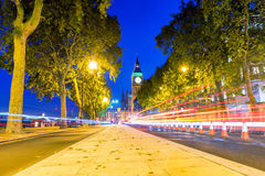 Cityscape of a Street in Westminster at night Stock Photos