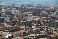 Cityscape Suburb Barcelona view from the bird`s eye view Royalty Free Stock Images