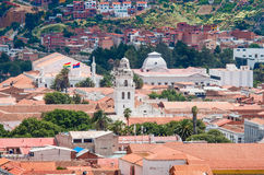Cityscape of Sucre, Bolivia Royalty Free Stock Photo