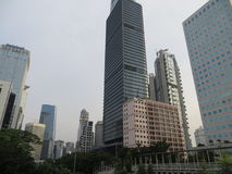Cityscape of Sudirman, Jakarta Stock Photo