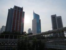 Cityscape of Sudirman, Jakarta Royalty Free Stock Photography