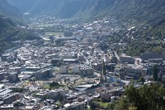 Summer of Andorra La Vella, Andorra. Cityscape in Summer of Andorra La Vella, Andorra royalty free stock photos