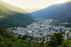 Summer of Andorra La Vella, Andorra. Cityscape in Summer of Andorra La Vella, Andorra stock images