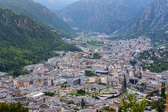 Summer of Andorra La Vella, Andorra. Cityscape in Summer of Andorra La Vella, Andorra stock photography