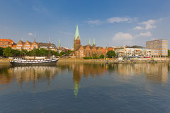 Cityscape of summer Bremen Stock Image