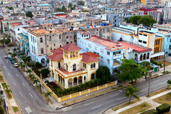 Cityscape in a sunny day.Cuba. Old Havana. Top view. Stock Images