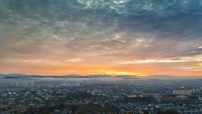 Cityscape sunrise Royalty Free Stock Image