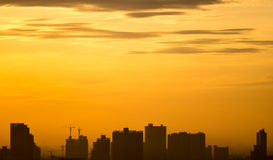 Cityscape sunrise Stock Photography