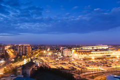 Cityscape after sunset Royalty Free Stock Photography