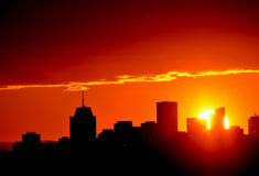 Cityscape sunset Royalty Free Stock Images