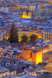 Cityscape at sunset, Granada, Andalusia, Spain Stock Image