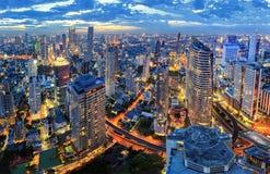 Cityscape sunset Stock Photos