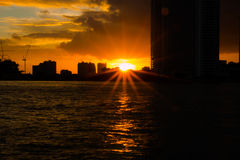 Cityscape sunset Royalty Free Stock Photos