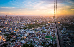 Cityscape sunset view Stock Image