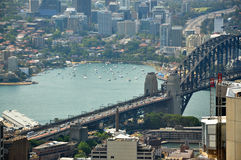 Cityscape of Sydney bridge Royalty Free Stock Photos