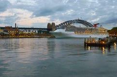 Cityscape of Sydney Circular Quay at dusk Sydney New South Wales Stock Photo