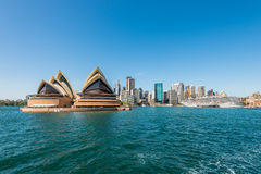 Cityscape of Sydney Downtown and Harbor Stock Images