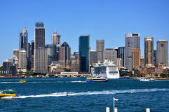 Cityscape of Sydney harbour Royalty Free Stock Photos