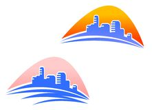 Cityscape symbols Stock Image