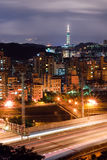 Cityscape of Taipei Stock Photography