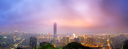 Cityscape of Taipei Stock Photo