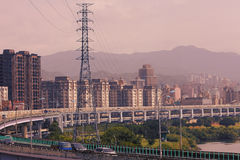 Cityscape of Taipei city Stock Images