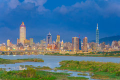 Cityscape of Taipei city in Taiwan Stock Images