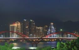 Cityscape Taipei Taiwan för Guandu bronatt Royaltyfri Foto